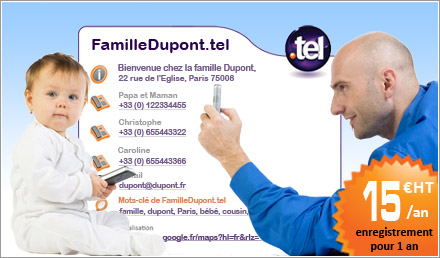 nom de domaine .TEL 15€ HT/an