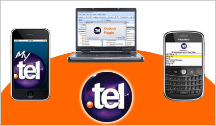 applications .TEL pour iPhone, Blackberry et Outlook